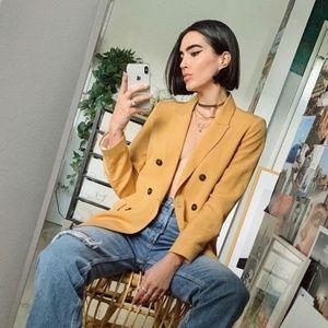 Zara Yellow/Gold Blazer